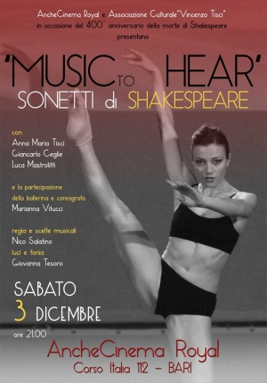 """MUSIC TO HEAR"" - SONETTI DI SHAKESPEARE"